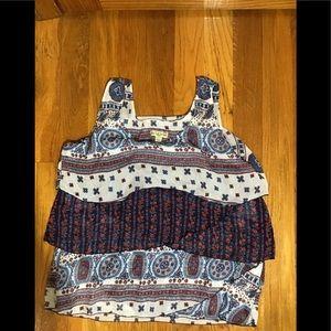 Women's petite extra-large sleeveless top/blouse
